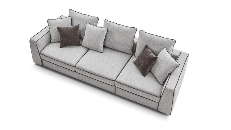 Прямой диван Картье 2Мр-1Мр